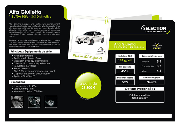 Fiat : une offre entreprises sous les 120 g