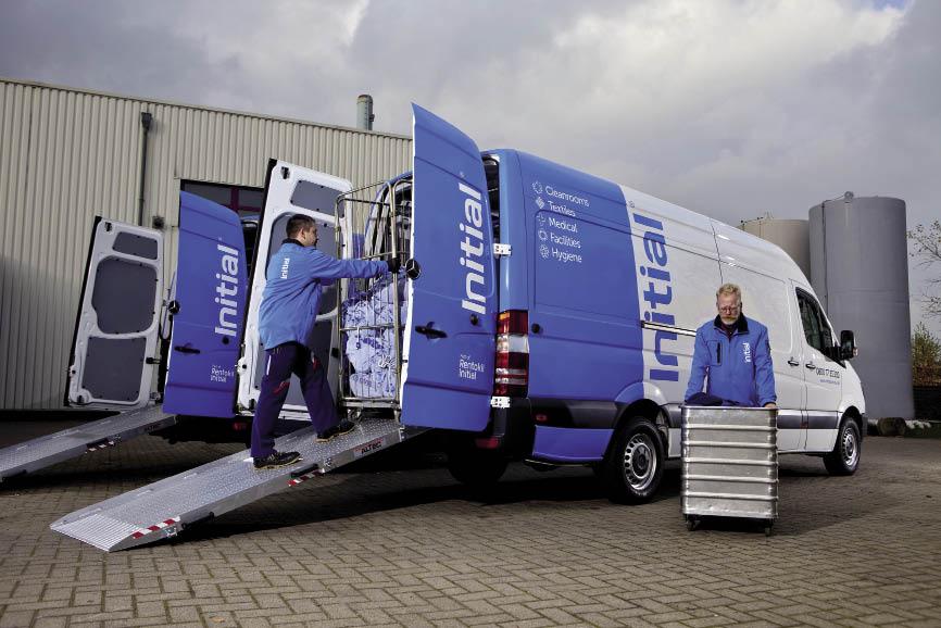 Avec l'optimisation de tournées, Initial, spécialiste de l'entretien des vêtements et du linge professionnels, a réduit de 10 % le nombre des kilomètres parcourus chaque jour par ses 740 véhicules.