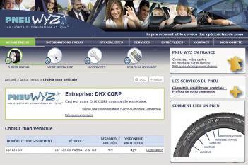 Présente uniquement sur internet, l'enseigne Pneus Wyz avance un millier de partenaires en France pour mener à bien les prestations de remplacement, voire le stockage des pneus hiver et été de ses clients.