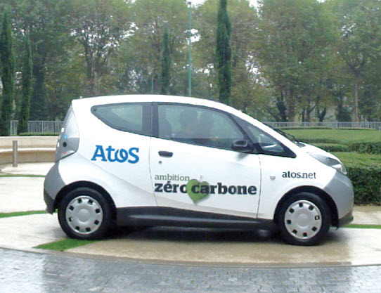 Dans sa flotte, le spécialiste des services informatiques Atos compte dix Bluecar Bolloré en auto-partage. Ces modèles électriques sont entre autres employés dans le cadre du service parisien Autolib.