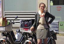 """""""Avec l'électrique, ni entretien ni carburant"""" Valérie Plasmans, Class'croute Paris"""