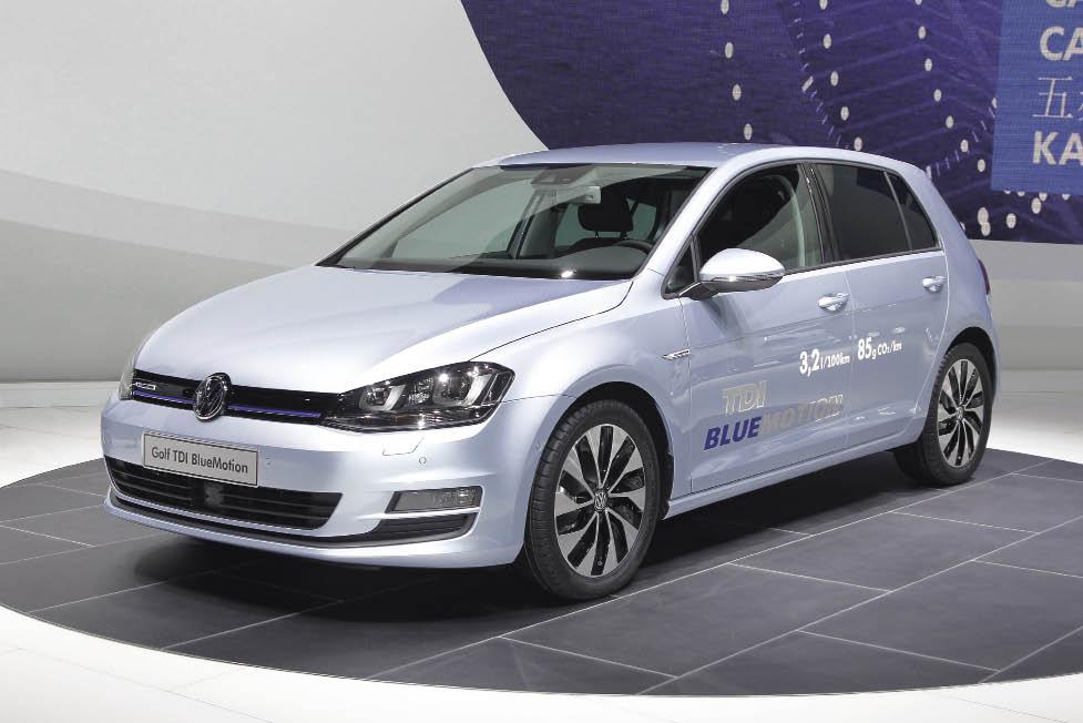 La nouvelle Golf 1.6 TDI 110 BlueMotion et ses 85 g qui illustrent les progrès réalisés en matière de réduction des émissions de CO2.
