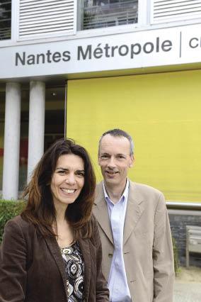 Pour Nantes Métropole, Raquel Fortuna, coordinatrice des plans de mobilité, et Bruno Mathieu, directeur logistique, œuvrent ensemble à améliorer la mobilité durable dans la ville et la métropole.