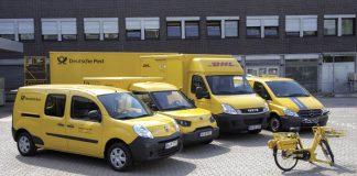 Dans son programme GoGreen de réduction des émissions de CO2, le groupe Deutsche Post DHL mène des tests sur des véhicules électriques : Kangoo Z.E., Street Scooter, Iveco Daily électrique ou Vito E-cell.