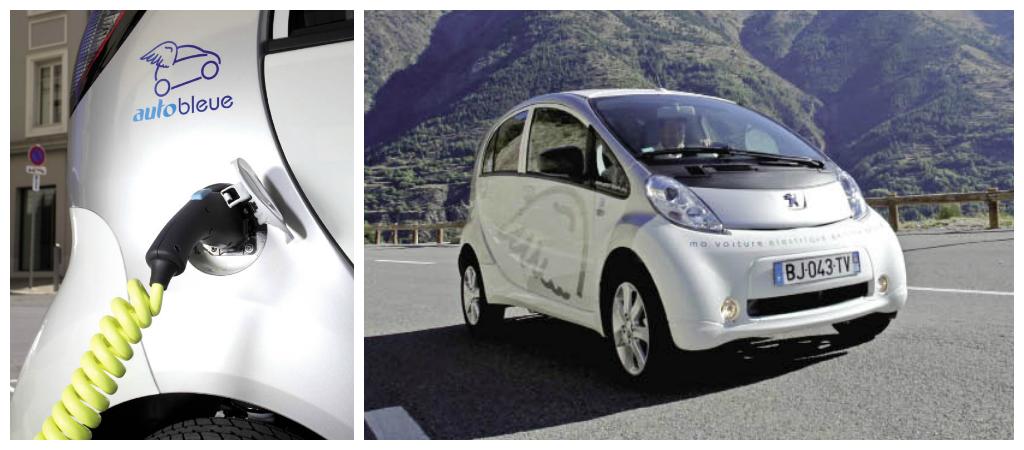 À Nice, le service d'auto-partage public Auto Bleue compte plusieurs centaines d'abonnés professionnels. L'abonnement pour les entreprises comprend un forfait de 10 heures d'utilisation par mois.