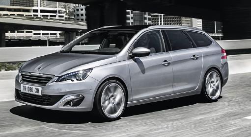 Peugeot met à l'honneur sa nouvelle 508, mais sans oublier sa 308 en break SW, avec une finition Business qui comprend le kit mains libres Bluetooth, le régulateur-limiteur de vitesse, les antibrouillard, etc.