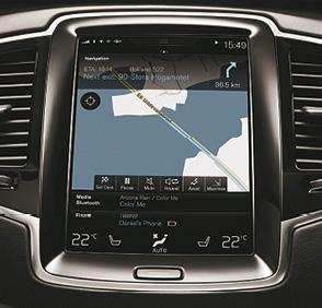 Volvo XC90 - nouvelle interface Sensus en forme de tablette