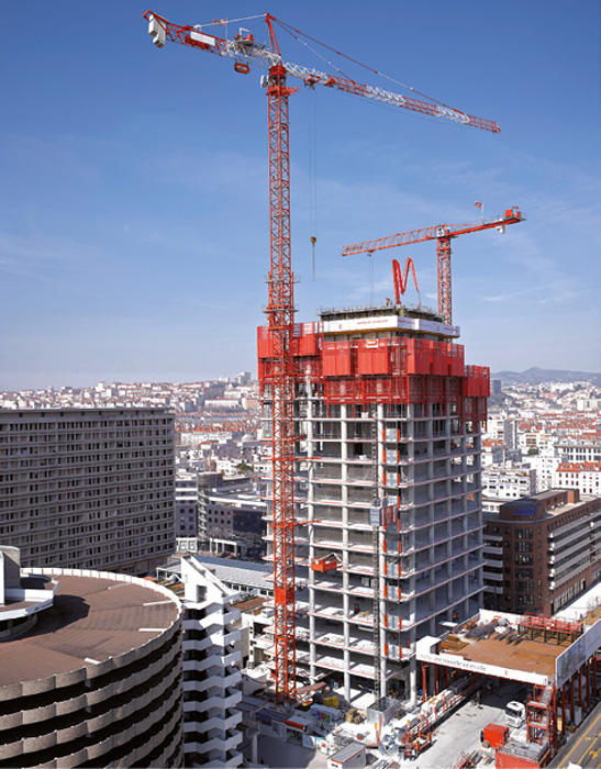 Chantier de la Tour Incity à Lyon
