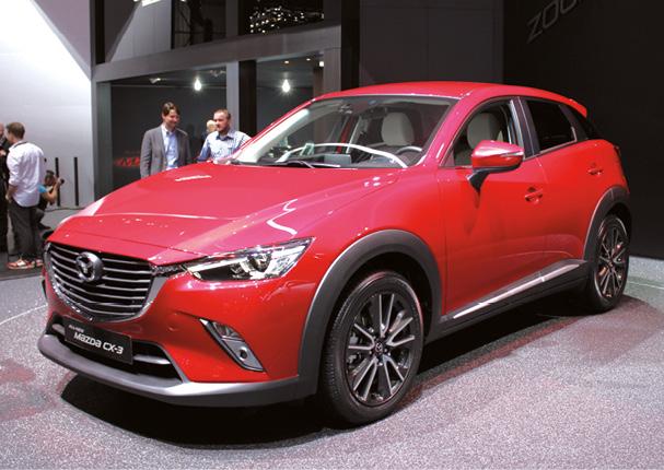 Mazda a profité du salon de Genève pour dévoiler son futur CX-3. Ce CX-3 a droit à un coffre de 360 l, à une transmission intégrale en option et à un nouveau 1.5 diesel de 105 ch (à partir de 105 g).