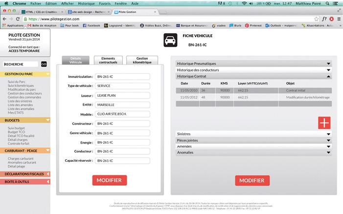 Le prestataire Pilote Gestion cible notamment les entreprises qui possèdent des flottes entre 50 et 500 véhicules ; son logiciel se veut simple d'usage avec un paramétrage rapide pour les utilisateurs.