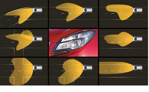 Opel Mokka – Phares avant adaptables (Adaptive Forward Lighting, AFL+)