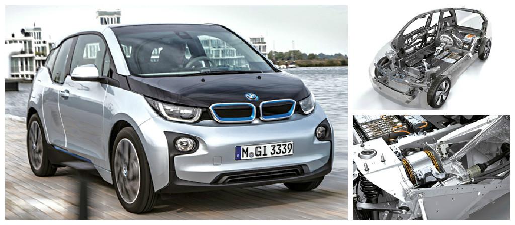 Voiture électrique, la BMW i3 a misé sur l'innovation avec notamment une structure qui mêle le carbone à l'aluminium. Son moteur de 125 kW (170 ch) peut être suppléé par un prolongateur d'autonomie thermique.