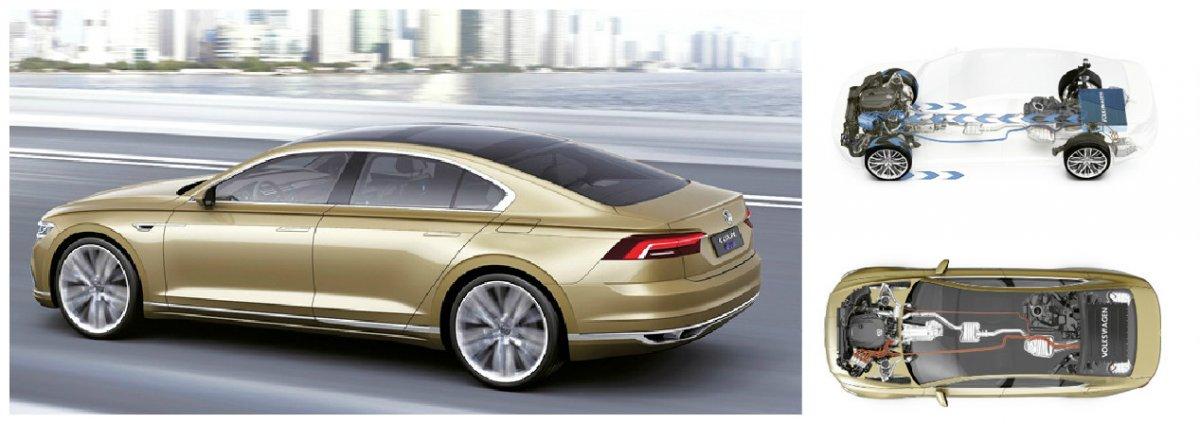 Présenté récemment à Shanghai, le C Coupé GTE de VW est une berline sportive hybride qui préfigure les futures berlines de la marque. Le moteur essence et le bloc électrique proposent 245 ch, pour 2,3 l/100 km et 55 g de CO2.