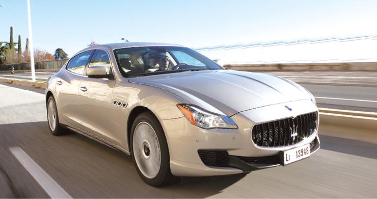Depuis 2014,  la Maserati Quattroporte s'accommode très bien de la présence dans sa gamme d'un moteur diesel, en l'occurrence un V6 3.0 de 275 ch référencé à 163 g, pour un tarif à partir de 96 900 euros.