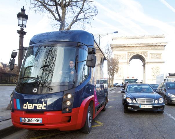 Pour livrer les villes, Deret s'appuie sur ses 21 bases situées en périphérie des grands centres urbains. Sa flotte comprend entre autres 55 véhicules électriques Smith et Modec (photo) et 27 porteurs hybrides Fuso.