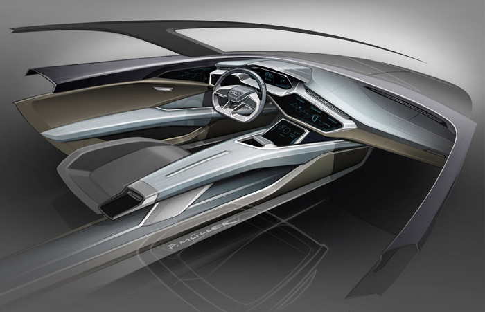 Le futur SUV électrique d'Audi en images