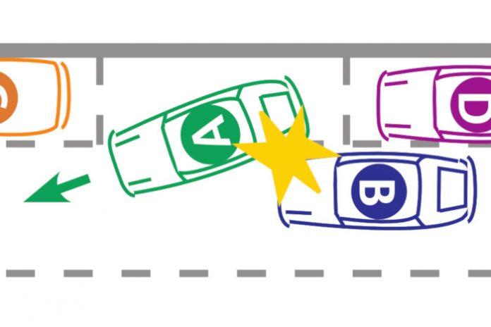 accident sortie stationnement