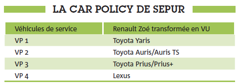 La Car Policy de Sepur