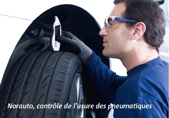 Norauto, contrôle de l'usure des pneumatiques