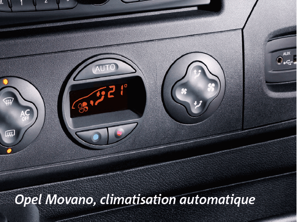 Opel Movano, climatisation automatique