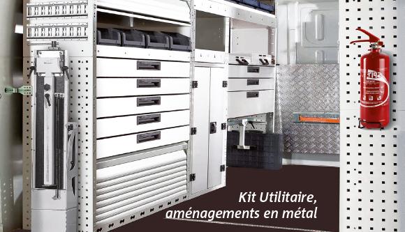 Kit Utilitaire, aménagements en métal