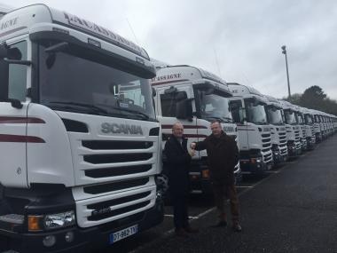 42 tracteurs Scania R450 pour les transports Lacassagne