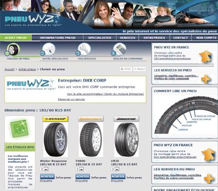 Sur le site de Pneu Wyz, l'ensemble des véhicules d'une entreprise est géré à partir des immatriculations. Sont ainsi définies les marques retenues par l'entreprise, avec pour chaque véhicule le nombre autorisé de pneus été, hiver ou 4 saisons.