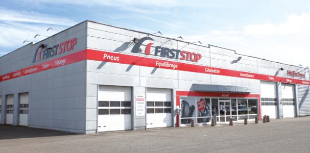 First Stop compte 340 points de vente en France dont 95 centres intégrés et 245 adhérents. La moitié du chiffre d'affaires est réalisée grâce aux poids lourds et au matériel agricole, l'autre moitié étant mobilisée par les véhicules légers.