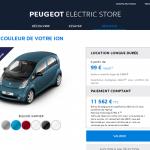 Peugeot lance son « Electric Store » en ligne