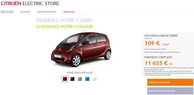 Citroën lance (aussi) son Electric Store en ligne