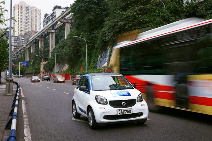 Car2go séduit Chongqing en Chine