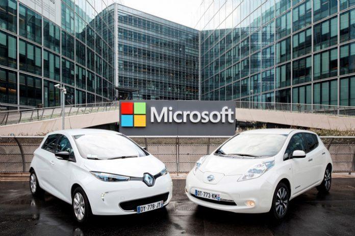 L'alliance Renault-Nissan s'associe à Microsoft