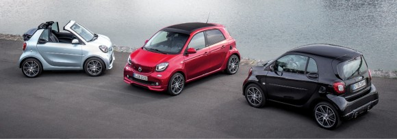 Smart Brabus fortwo cabrio, forfour et fortwo