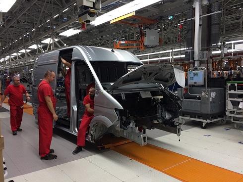 Le Crafter VW sort de l'usine de Poznan