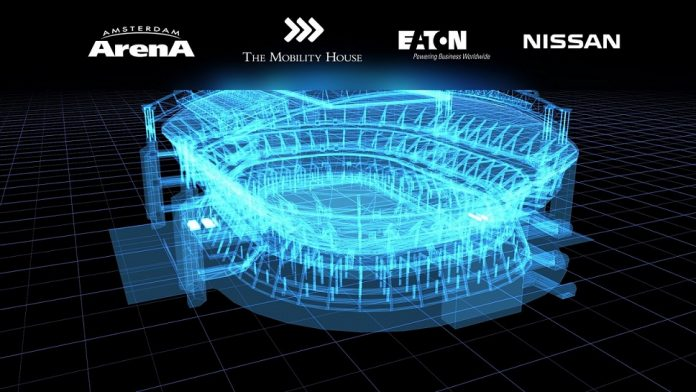 280 batteries Nissan pour l'énergie de secours d'un stade