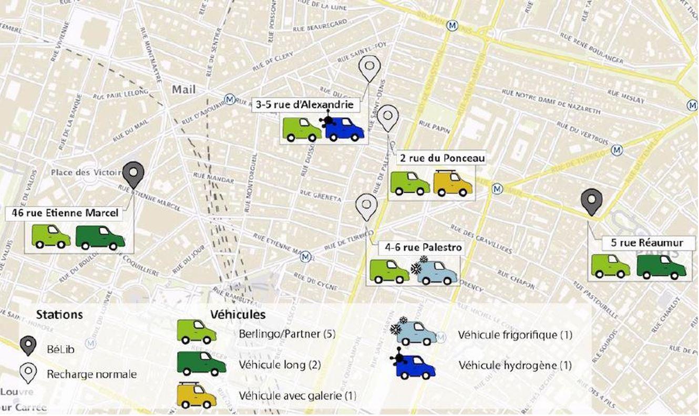 La ville de Paris lance un service d'autopartage de VU électriques