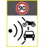 Nouveau panneau de signalisation pour les radars