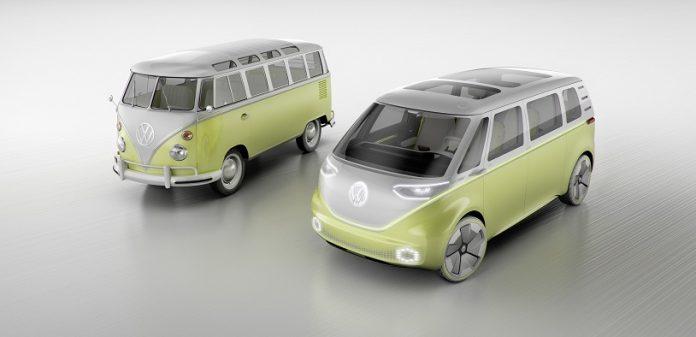 Détroit 2017 : Volkswagen dévoile son minibus ID-Buzz