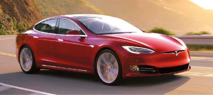Tesla Model S 90D Rouge soleil