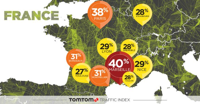 TomTom Traffic Index Classement France Taux embouteillage