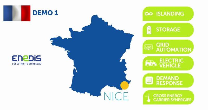 Interflex : un démonstrateur basé à Nice et piloté par Enedis