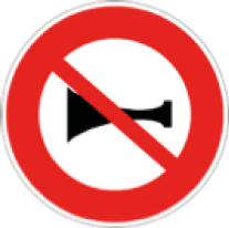 Interdiction de klaxonner