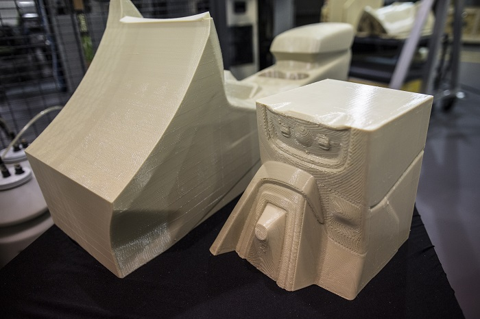 Ford Motor Company is exploring how large one-piece auto parts, like car spoilers, could be printed for prototyping and future production vehicles, as the first automaker to pilot the Stratasys Infinite Build 3D printer.