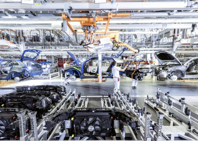 Production de l'Audi Q2 sur le site d'Ingolstadt