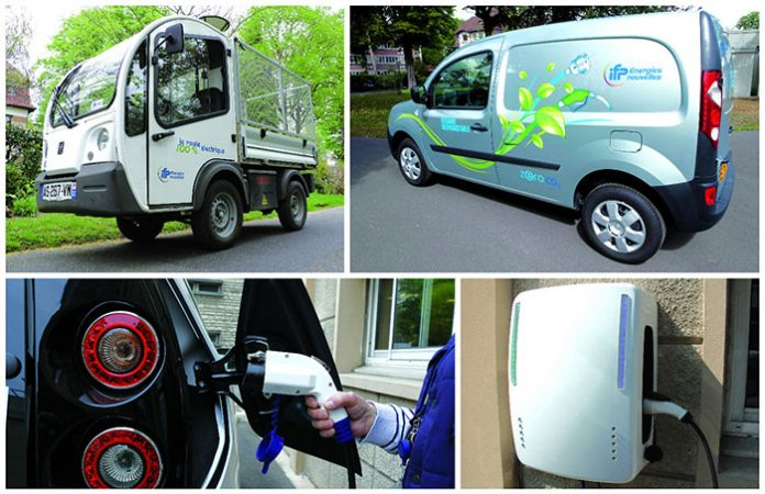 Parmi les 43 véhicules de sa flotte, IFPEN possède cinq véhicules électriques : trois Bluecar et deux Goupil. Les Bluecar sont affectées au parc de véhicules de prêt ; les deux Goupil sont employés comme véhicules de service.