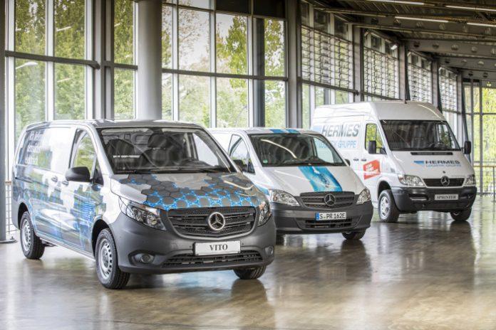 Mercedes-Benz Vans et Hermes ont signé un partenariat stratégique à Hambourg.