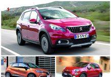 Segment SUV urbains - Le podium : 1. Peugeot 2008 2. Renault Captur 3. Fiat 500X