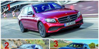 Haut de gamme segment H1 - Le podium : 1. Mercedes Classe E 2. BMW Série 5 3. Volvo V90