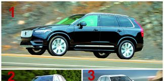 Haut de gamme segment SUV -Le podium : 1. Volvo XC90 / 2. BMW X5 / 3. Audi Q7