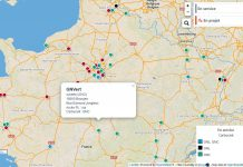 Carte AFGNV - Stations GNV